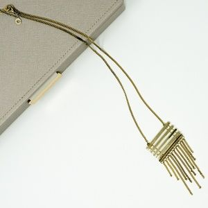 BaubleBar Gold Fringe Necklace
